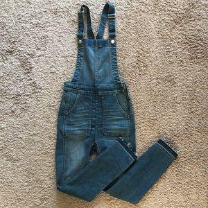 Madewell Skinny Raw Hem Overalls Size XS